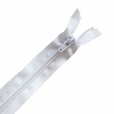 Nylon Open Ended Zip White