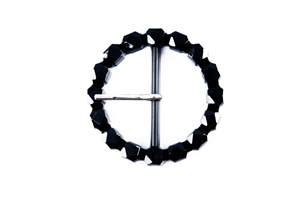 Large Decorative Buckle Black - Round - 50mm