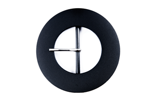 Large Smooth Buckle Black - Round - 50mm