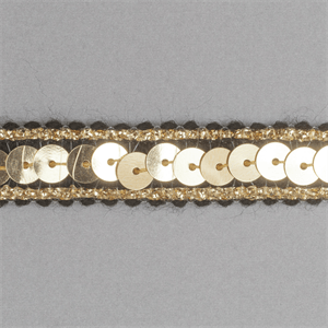 Sequin Metallic Edged Trim - 12mm wide Black/Gold