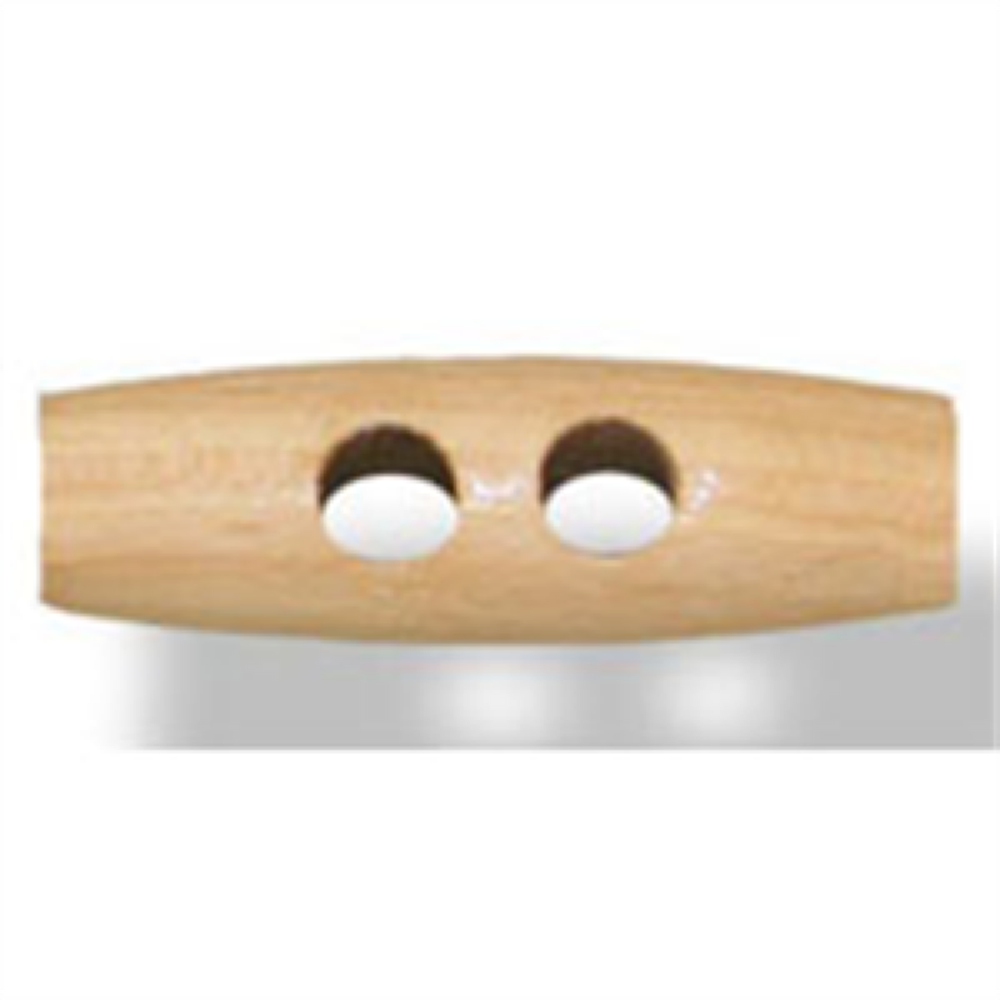 Wooden 2 Hole Toggle 40mm