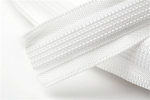 Hemline Satin Covered Polyester Boning 15mm Wide - Ivory