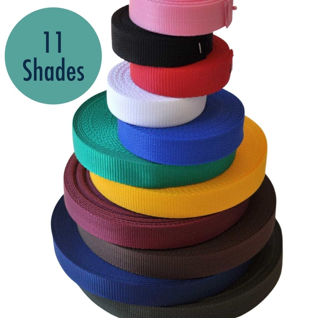 Polypropylene Webbing - 50mm Wide - Strong Durable Webbing - 11 Colours