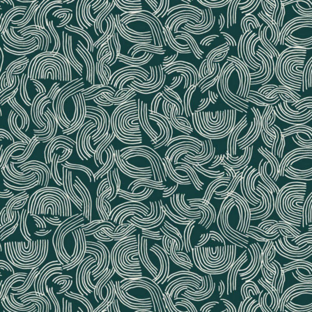 Dashwood - Cotton Linen Blend - Midnight Garden - Spaghetti