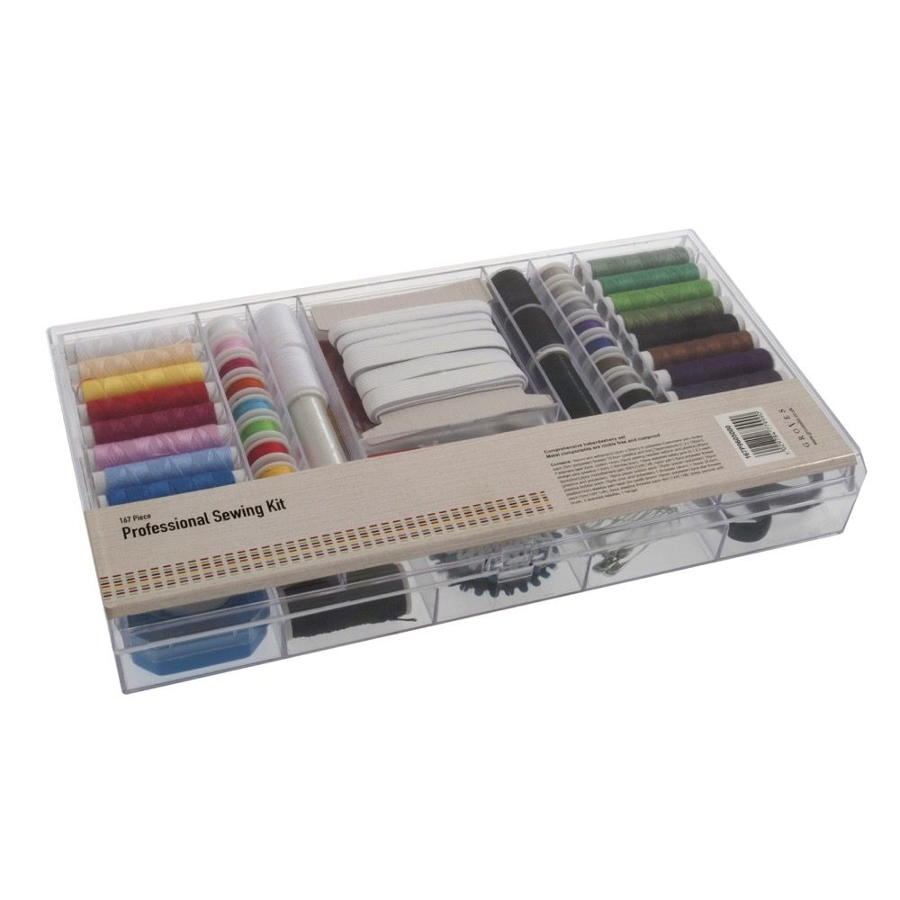 Professional Sewing Kit Containing 167 Pieces With Storage Case
