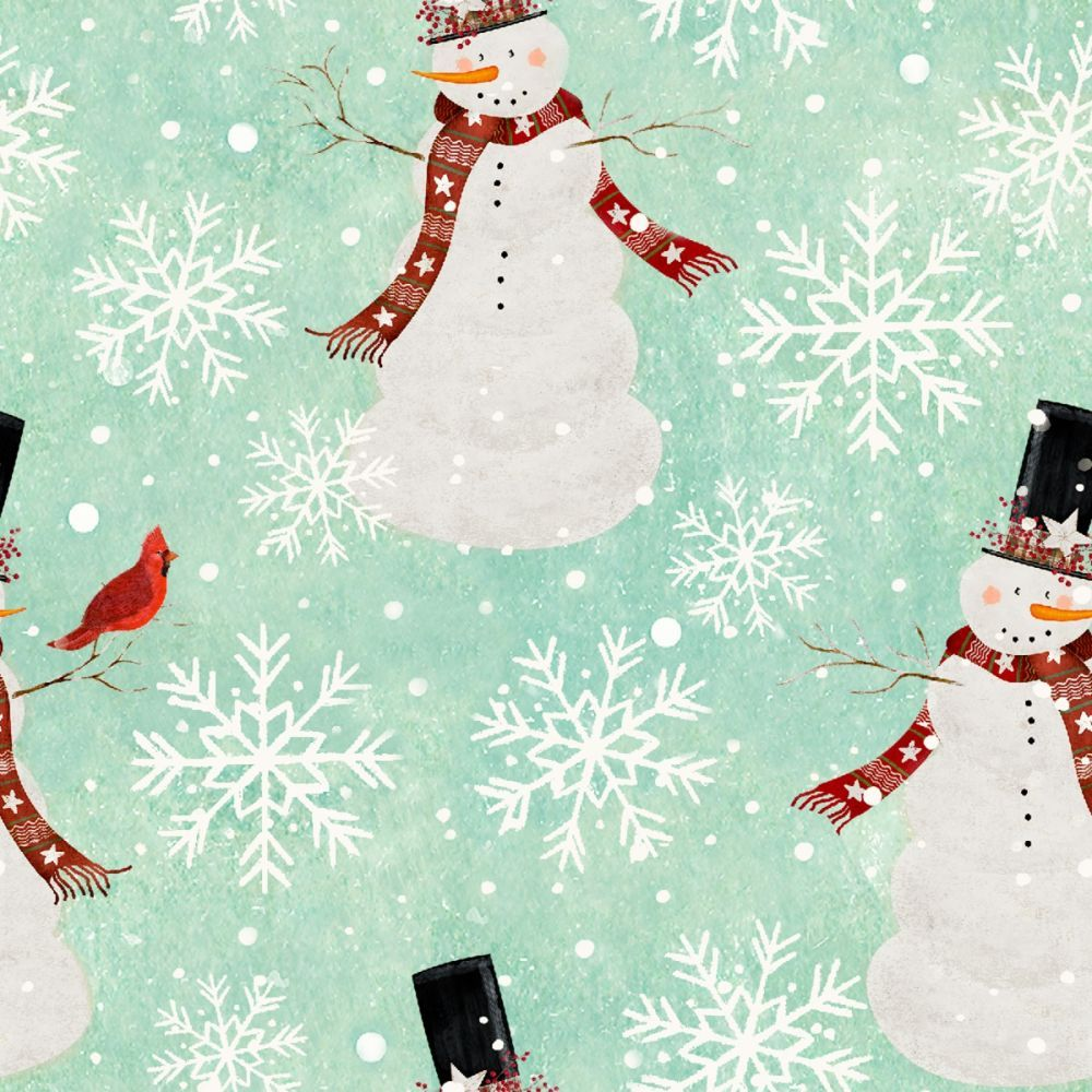 3 Wishes - Home For The Holidays - Snowman Turquoise