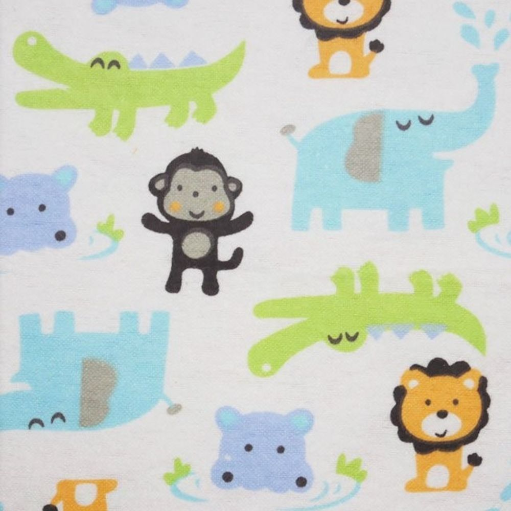 Cotton Flannel - Lions And Friends On White
