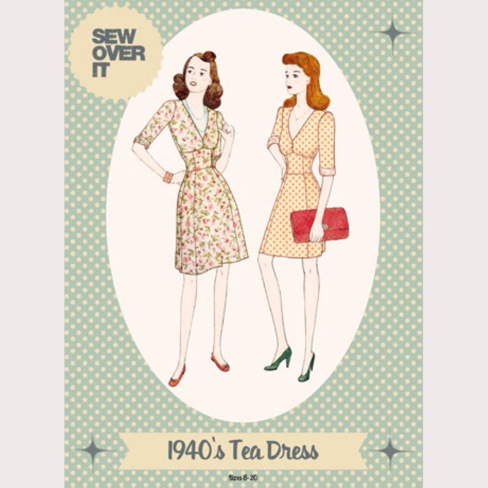 Sew Over It -  1940s Tea Dress Sewing Pattern