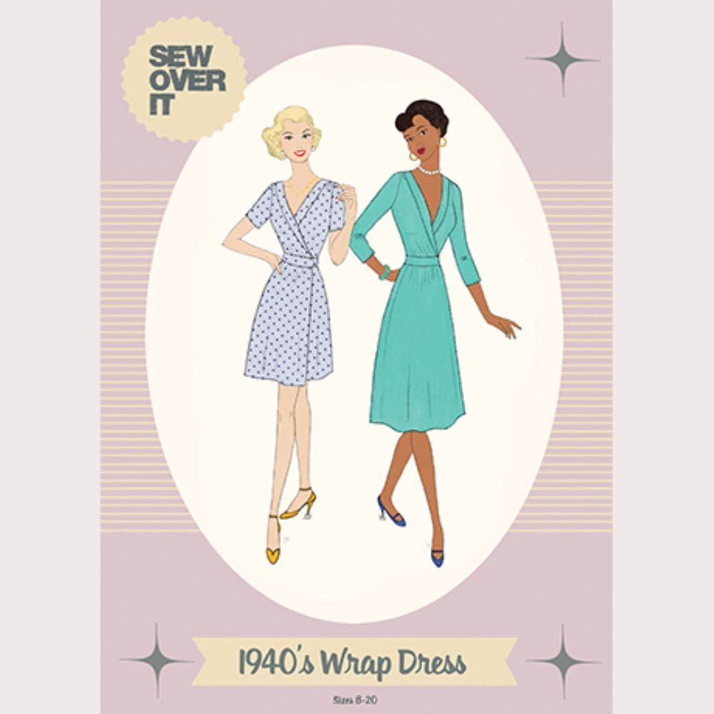 Sew Over It -  1940s Wrap Dress Sewing Pattern
