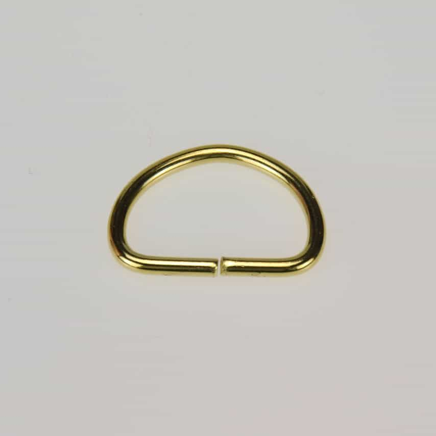19mm D Ring Brass