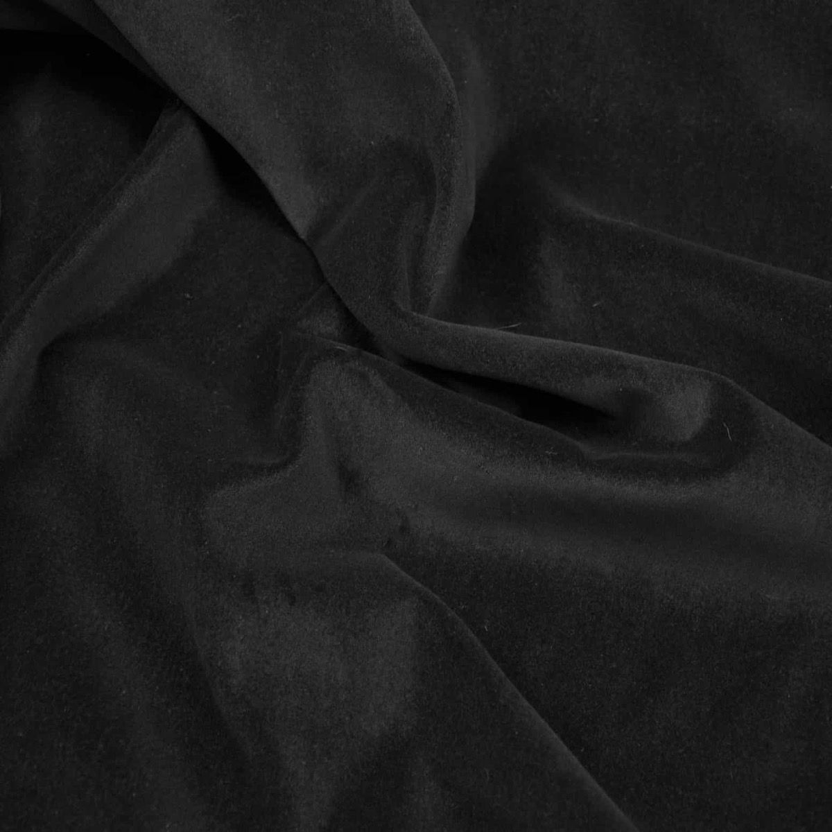 Remnant -Cotton Velvet - Black - 74 x 10cm