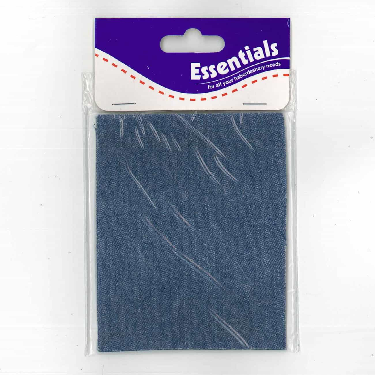 Iron On Trouser Patches Light Denim - Pack of 2