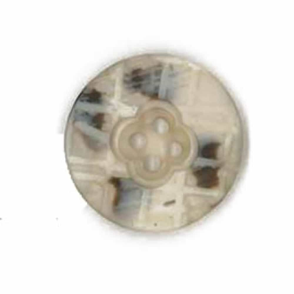 Round Two Tone Patterned Shell Button 25mm