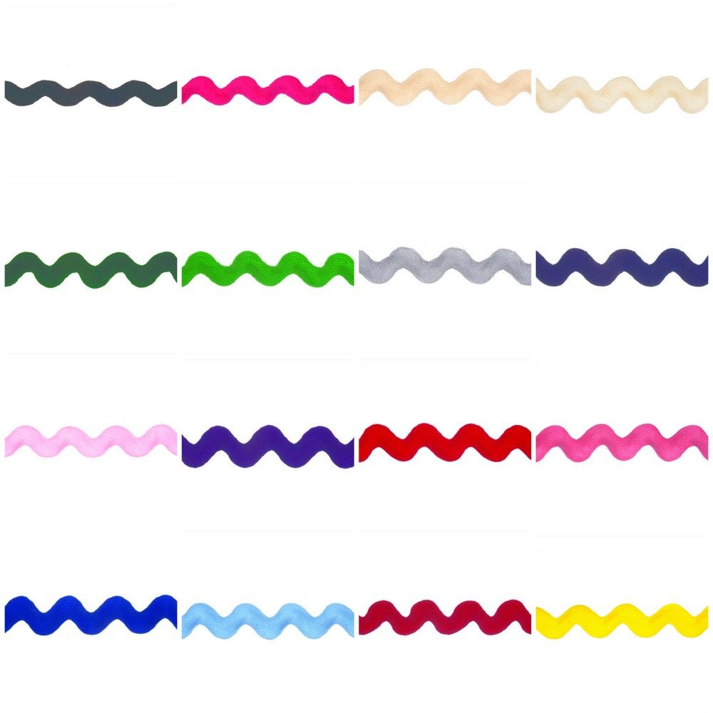 Essential Trimmings Jumbo Ric Rac - 22mm Wide - 14 Colours