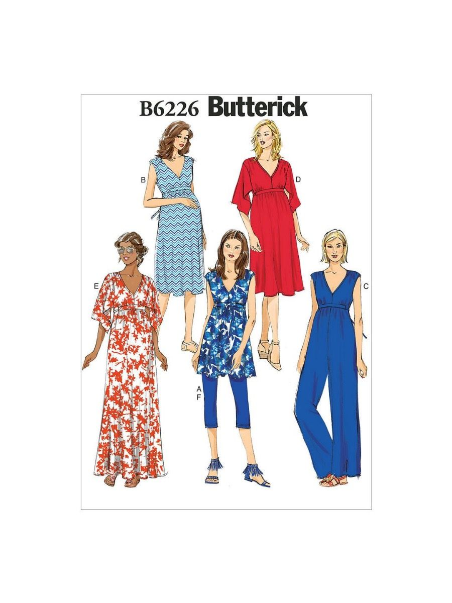 Remnant - Butterick Maternity Pattern B6226 - E5 - size14 - 22  End of Line