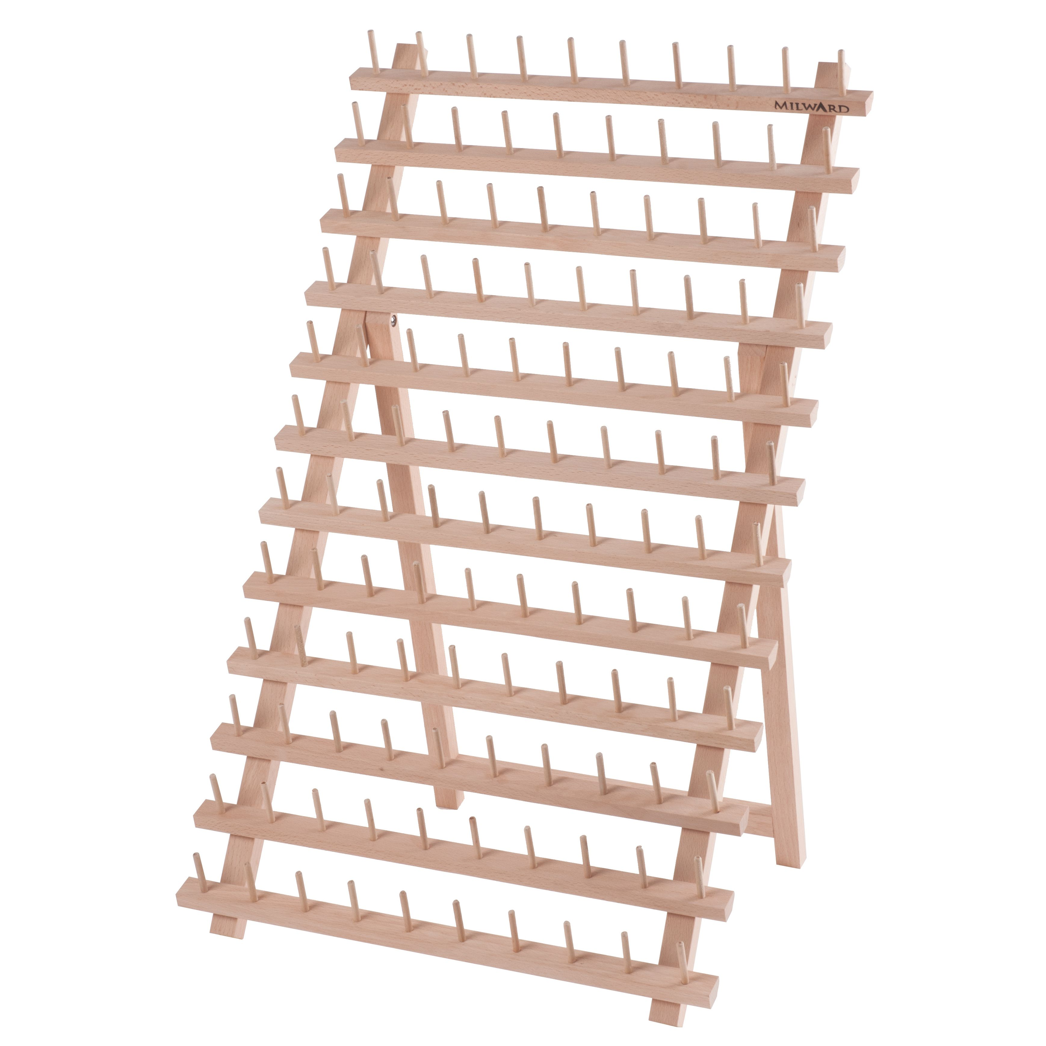 Milward 120 Spool Beech Wood Thread Rack