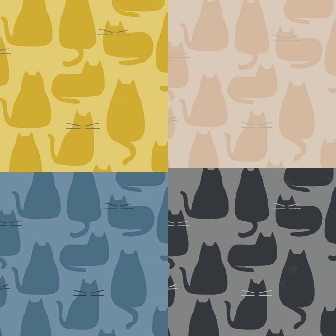 Andover - Whiskers and Dash - Fat Quarter Bundle - 12 Fabrics
