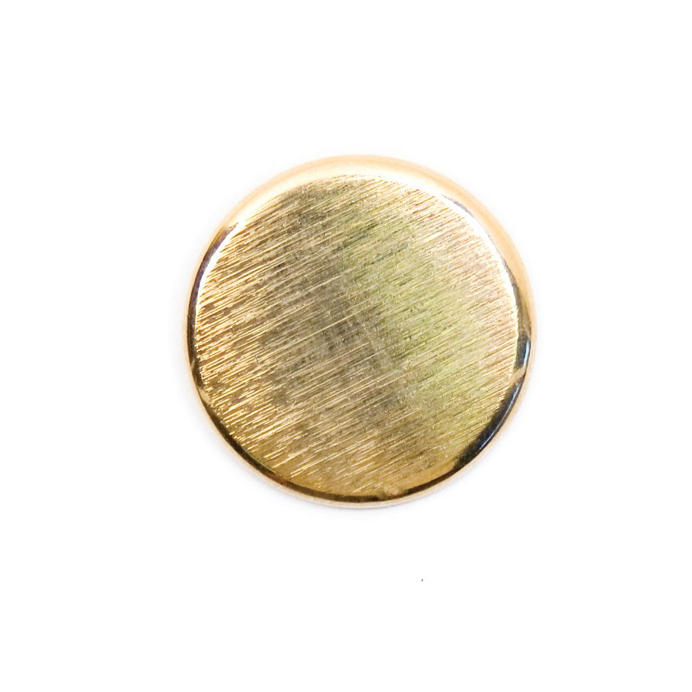 Brushed Metal Round Shank Button Gold Coloured 20mm / 32L