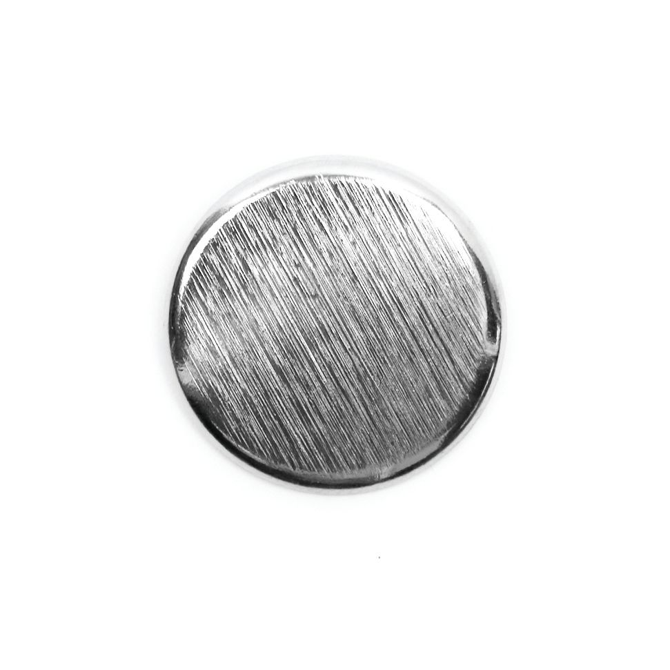 Brushed Metal Round Shank Button Silver Coloured 20mm / 32L