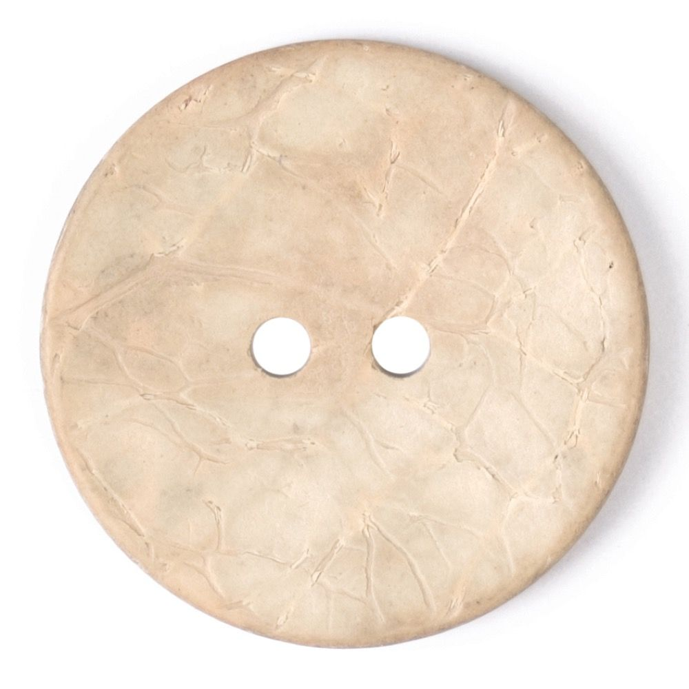 Round Coconut Shell Button - Light Natural - 31mm / 49L