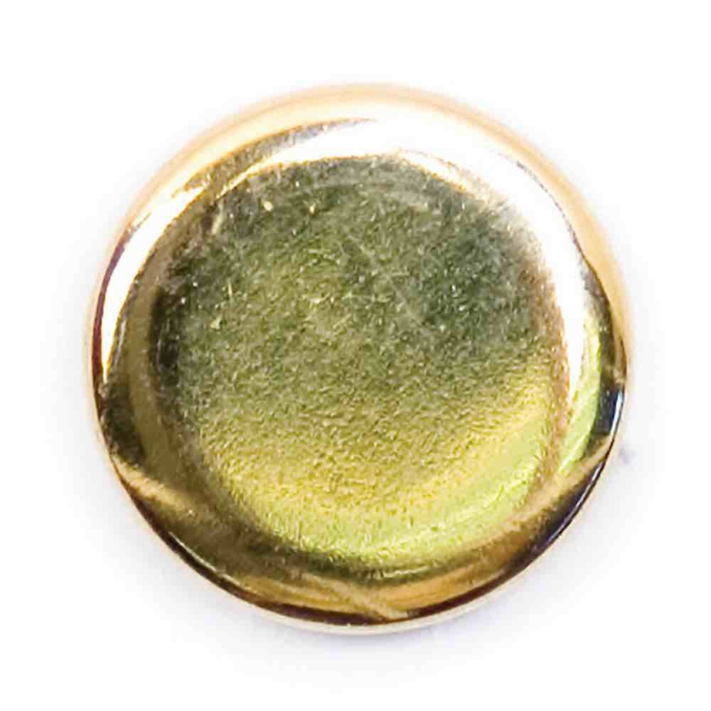 Polished Metal Round Shank Button Gold Coloured 13mm / 20L