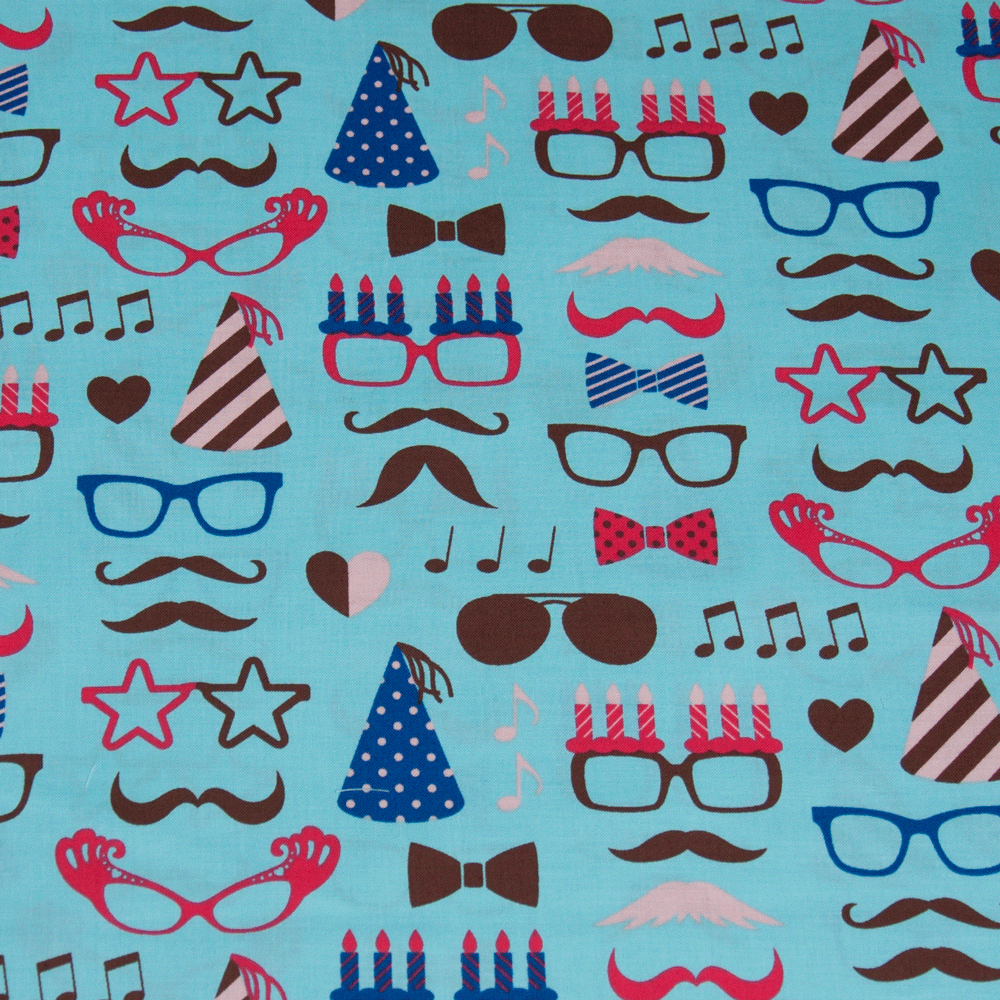 Cosmo - Moustaches & Specs Blue