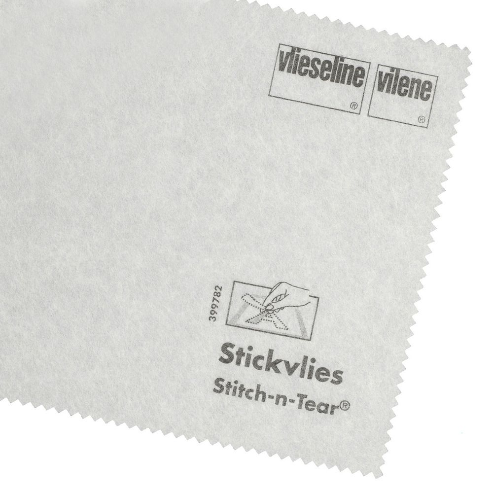 Vlieseline / Vilene Stitch N Tear Embroidery Stabilizer - White - 90cm