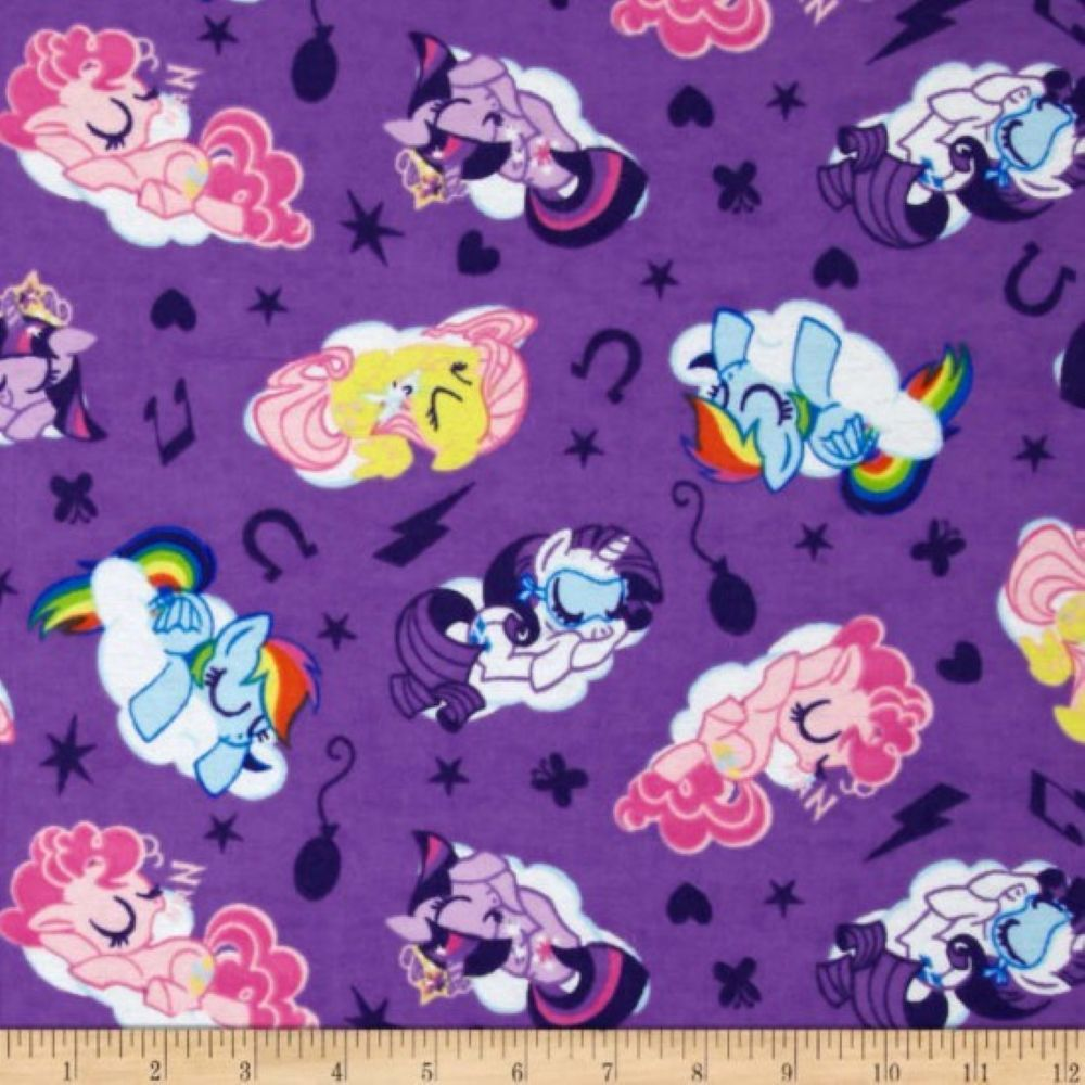 Nutex - Disney Flannel Fabric - My Little Pony