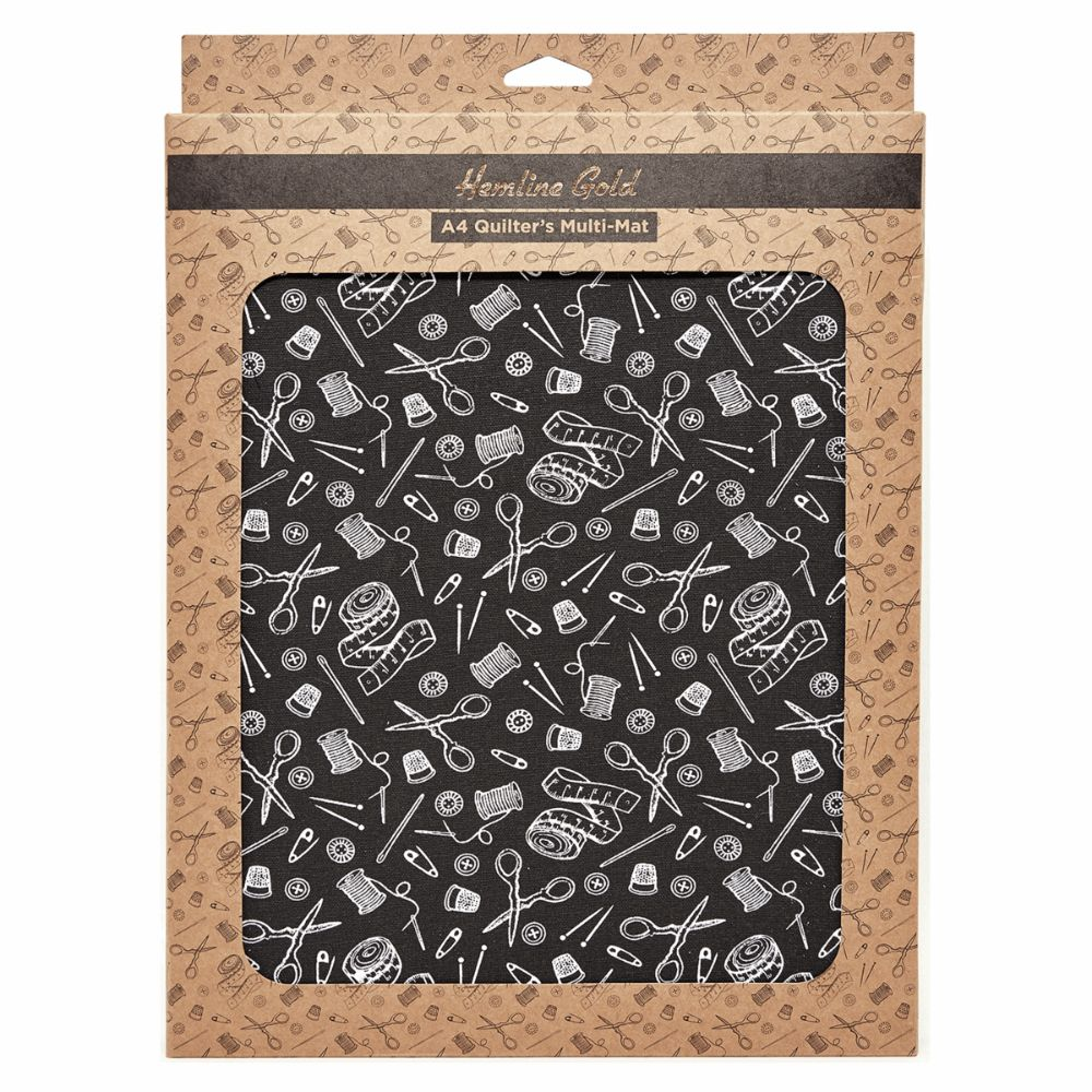 Hemline Gold Notions Print Quilters Multi-Mat - A4 (30 x 24cm)
