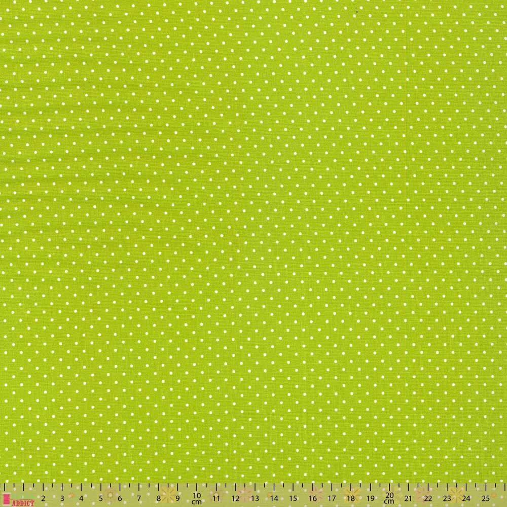 Cotton Fabric - Pinspot Lime