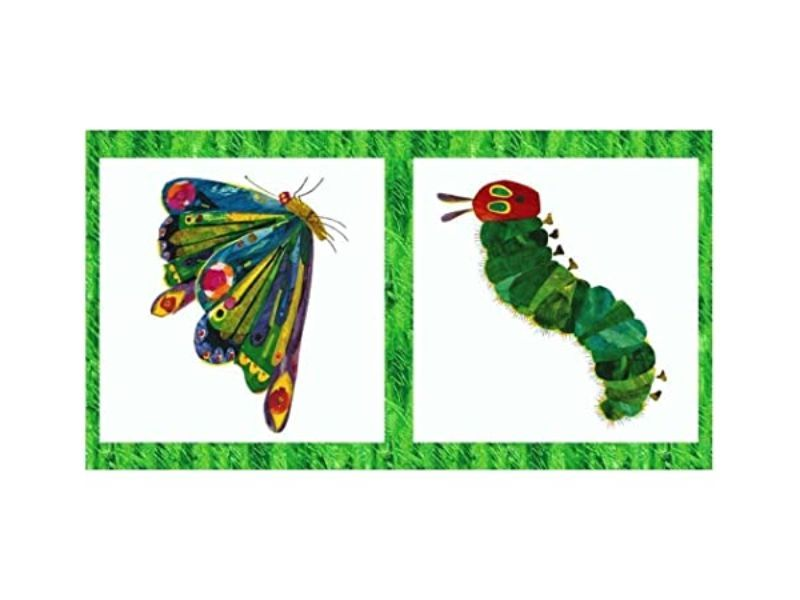 Andover - The Very Hungry Caterpillar Classic - 60cm Butterfly Panel White