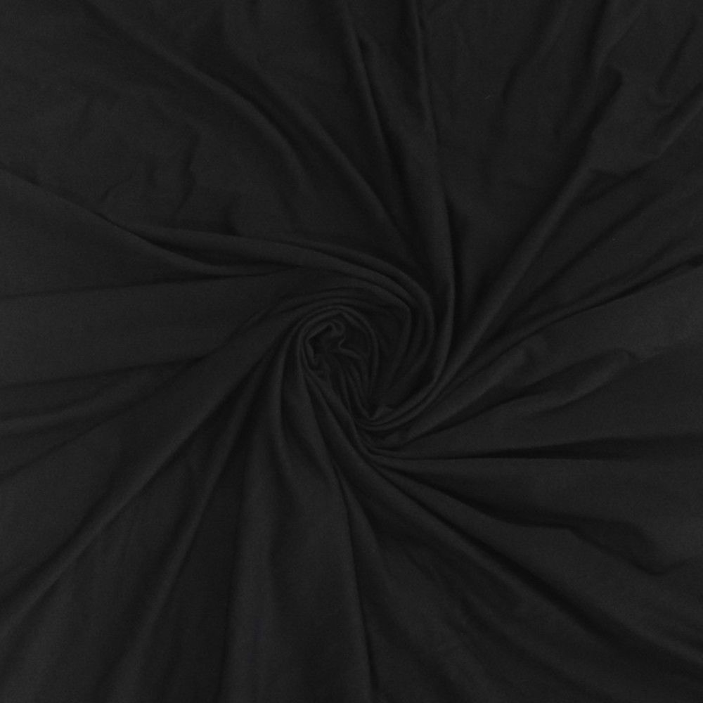 Solid Colour Bamboo Jersey Fabric - Black