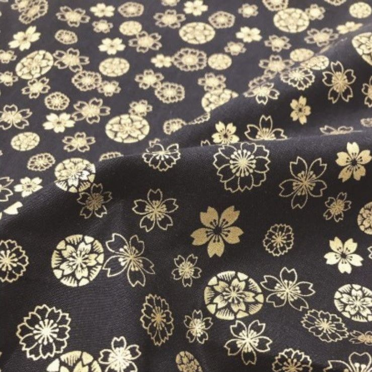 Japanese Import - Anan - Etched Floral On Black Metallic