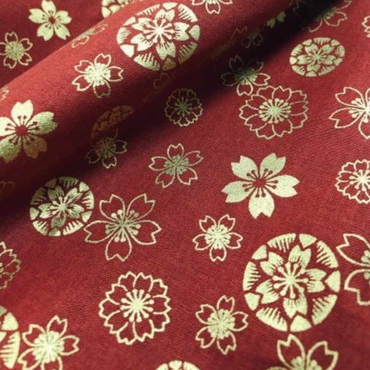 Japanese Import - Anan - Etched Floral On Red Metallic