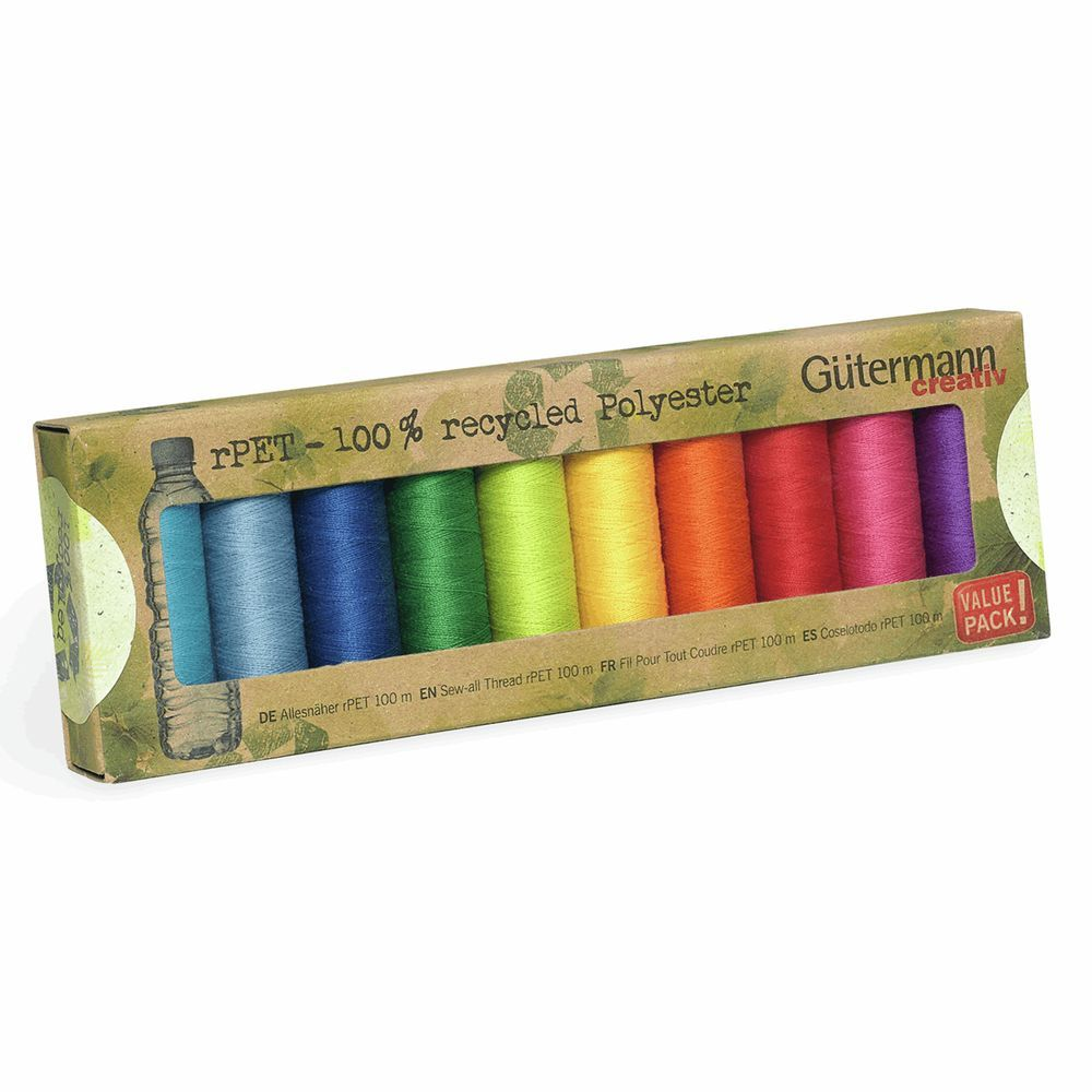 Gutermann 10 x 100m Recycled (rPET) Assorted Thread Set-2