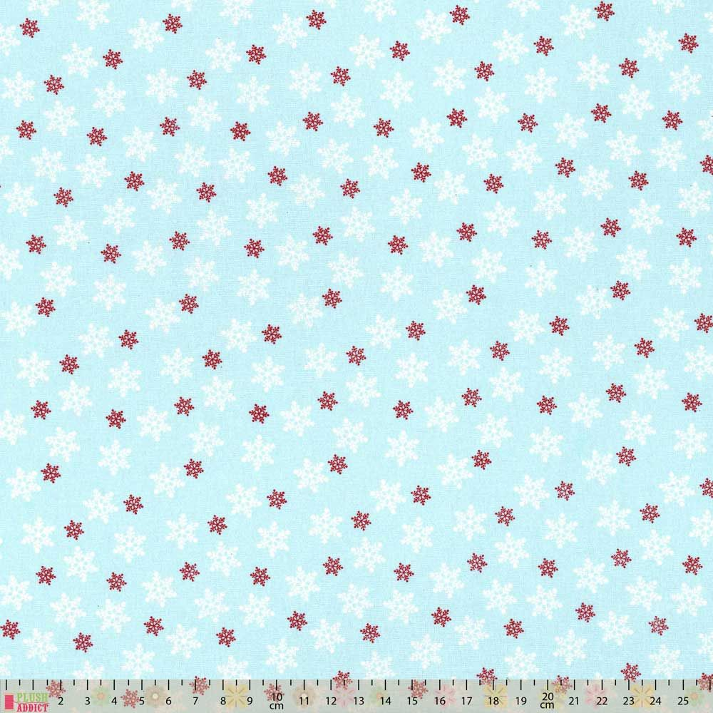 Cotton Fabric - Snowflakes On Sky