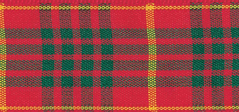 Berisfords Woven Edge Cameron Tartan Ribbon - 6 Widths