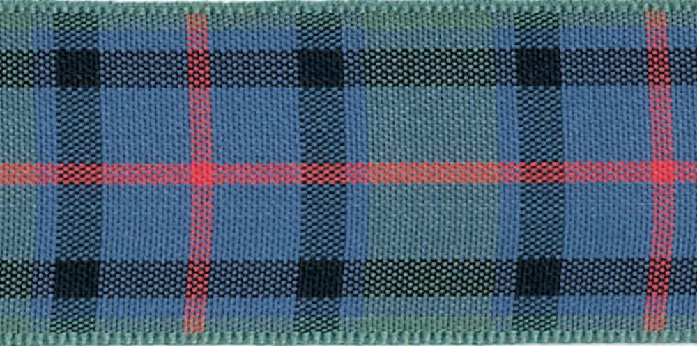 Berisfords Woven Edge Flower Of Scotland Tartan Ribbon - 6 Widths