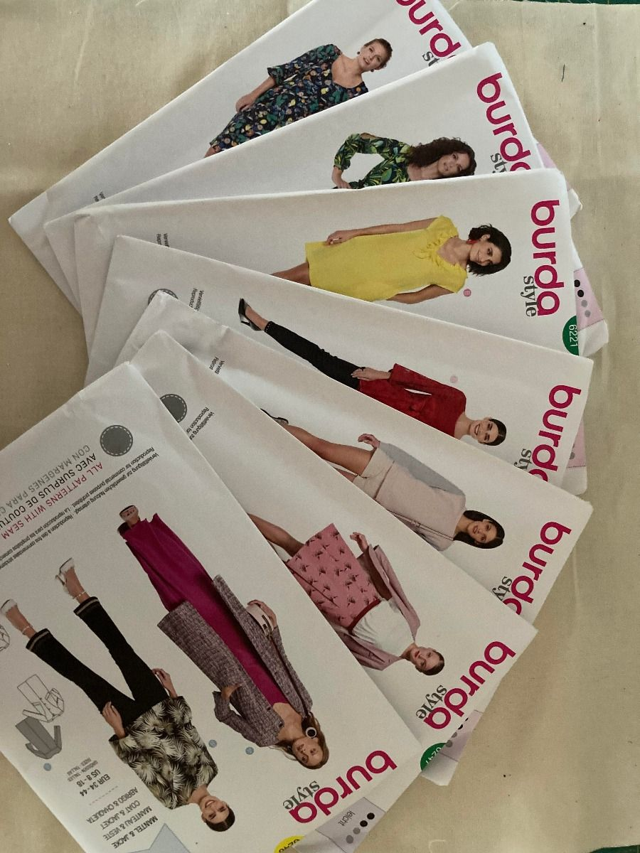 Remnant - 7 x Burda Sewing Patterns - size 34 - 44cm - Discontinued