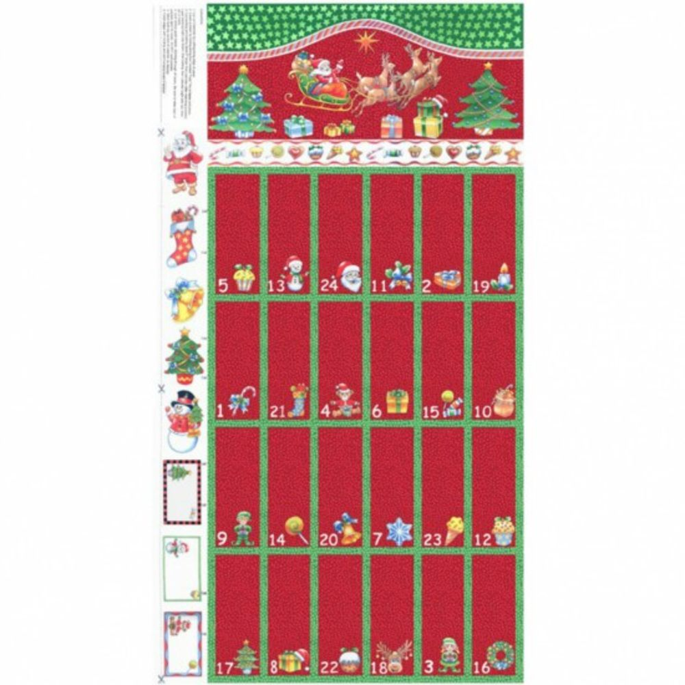 Remnant -Nutex - Advent Calendar Panel Red - 59 x 110cm - Miscut