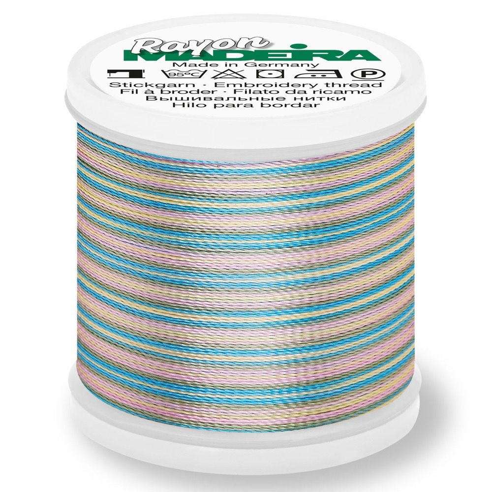 Madeira Rayon No 40 Machine Embroidery Thread 200m Reel - Multi-Colour 2103