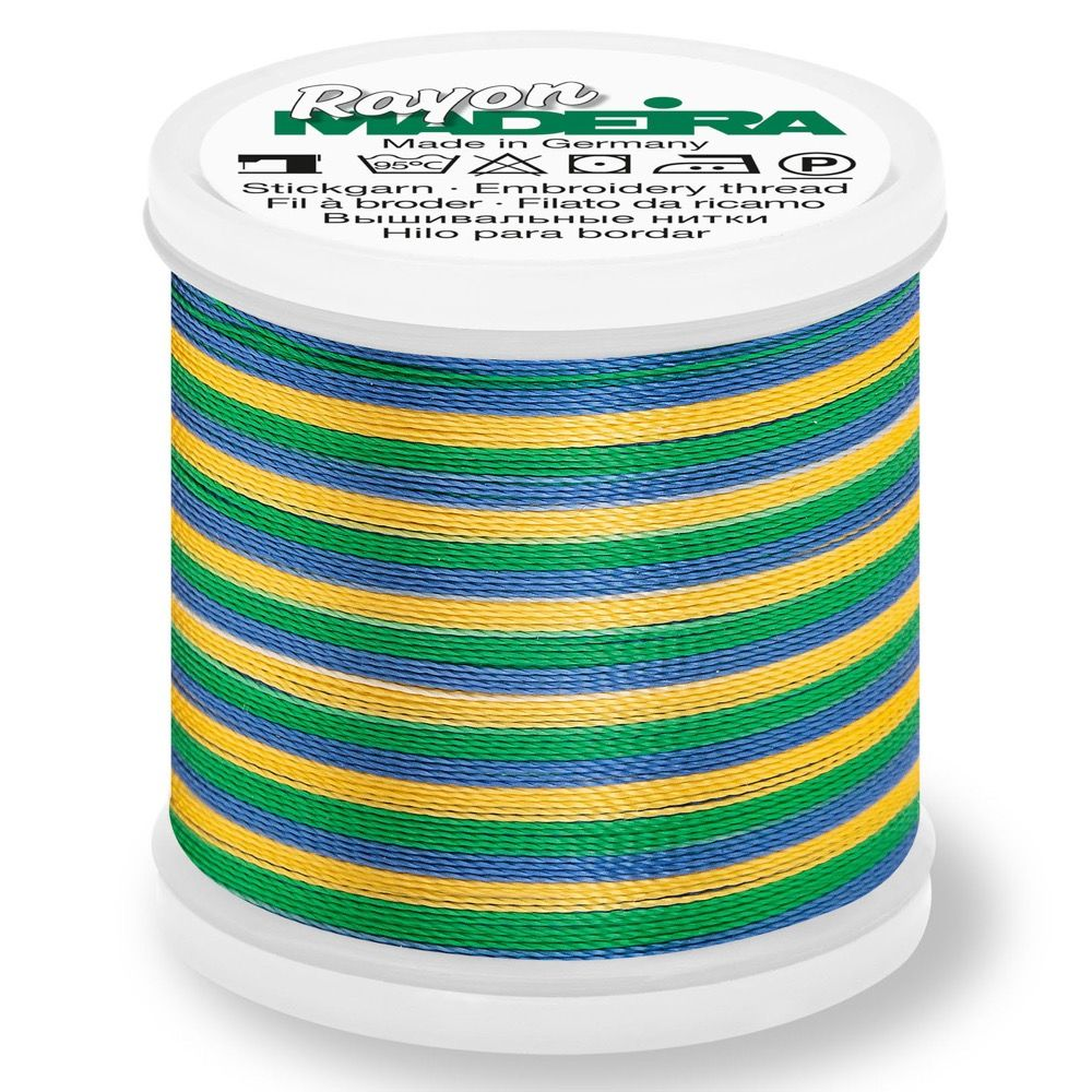 Madeira Rayon No 40 Machine Embroidery Thread 200m Reel - Multi-Colour 2146