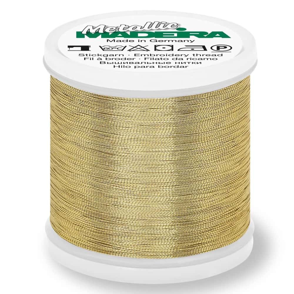 Madeira Metallic Smooth Sewing And Embroidery Thread 200m - Colour 304 Gold Nugget