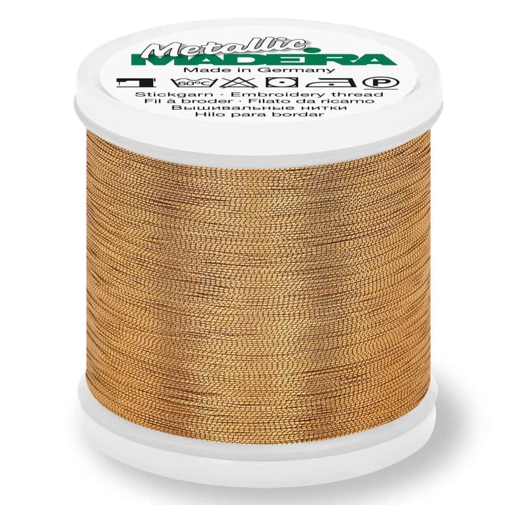 Madeira Metallic Smooth Sewing And Embroidery Thread 200m - Colour 307 Fine Gold