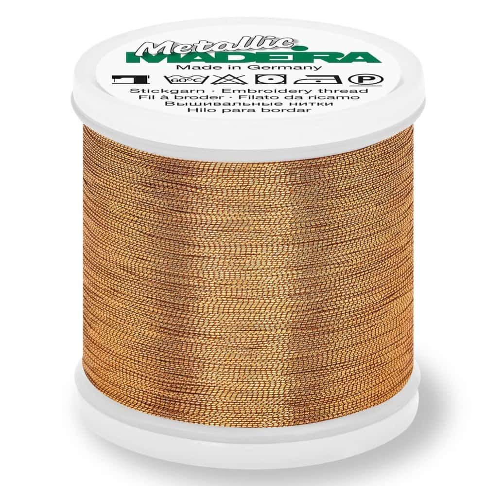 Madeira Metallic Smooth Sewing And Embroidery Thread 200m - Colour 321 Rose Gold