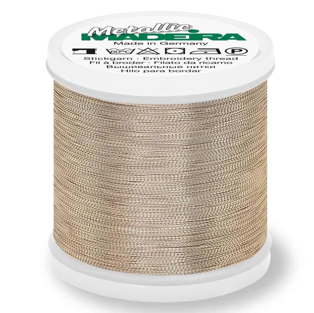 Madeira Metallic Smooth Sewing And Embroidery Thread 200m - Colour 322 Gold Dust