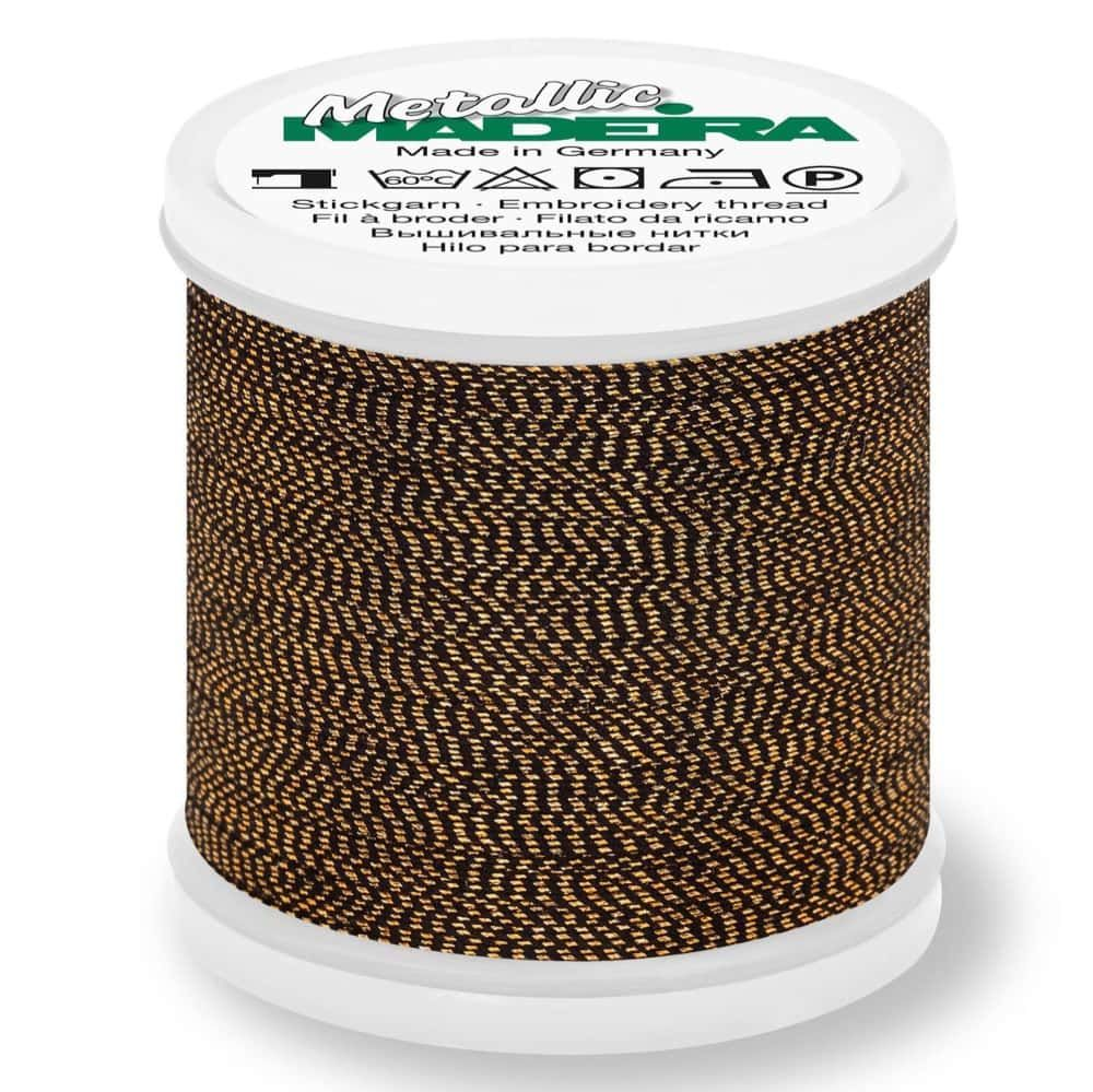 Madeira Metallic Soft Sewing And Embroidery Thread 200m - Colour 425 Sultan Gold