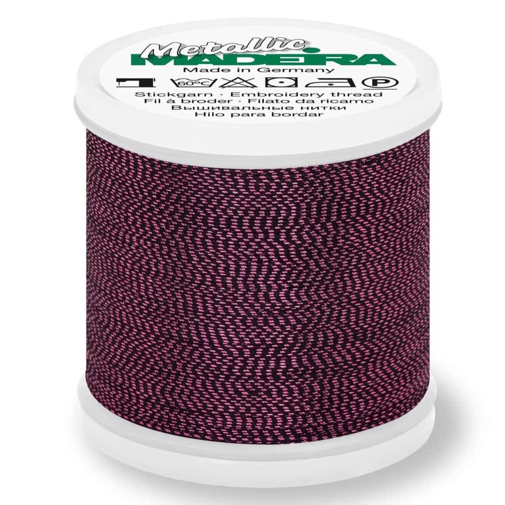 Madeira Metallic Soft Sewing And Embroidery Thread 200m - Colour 439 Garnet