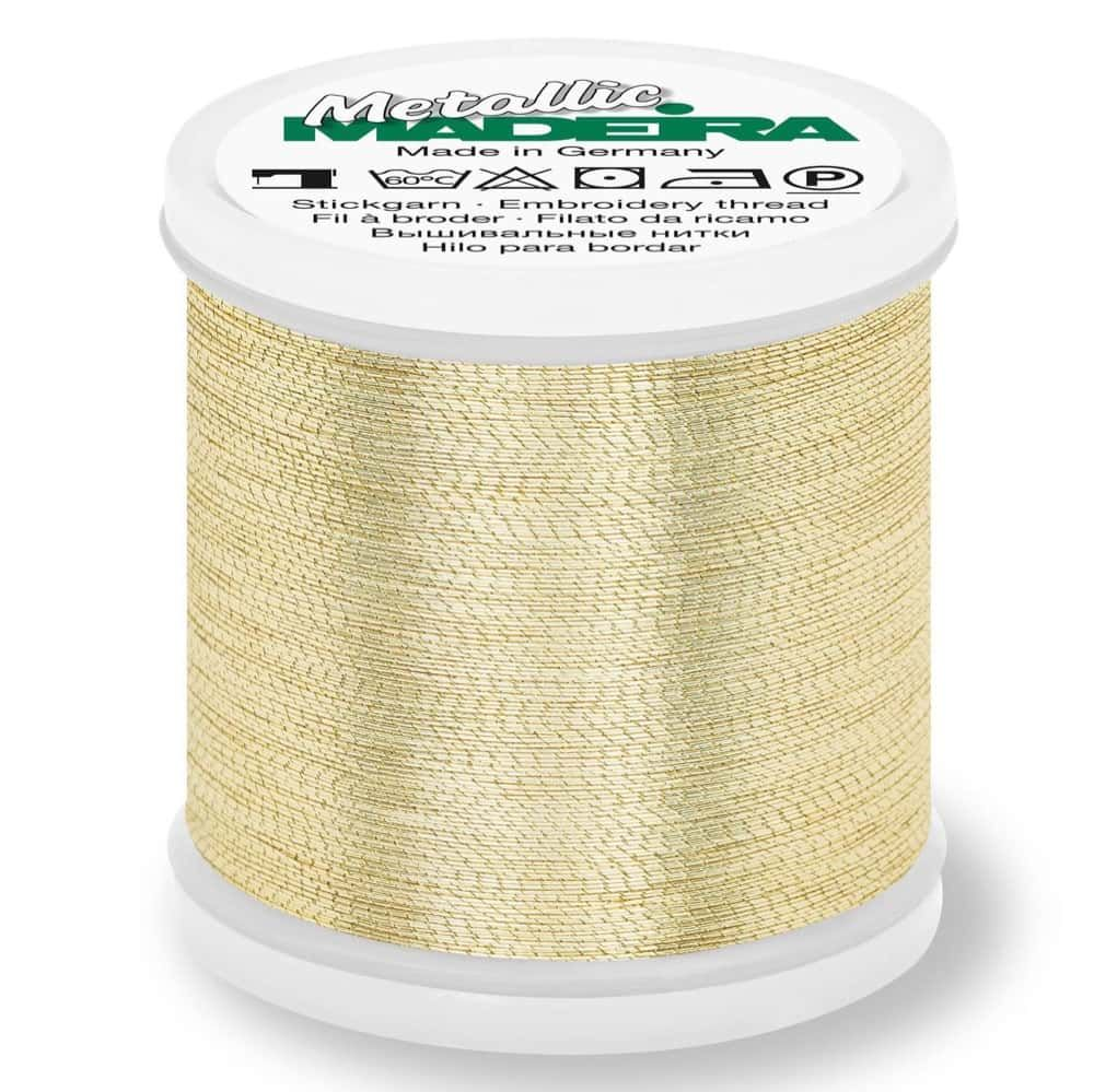 Madeira Metallic Brilliant Sewing And Embroidery Thread 200m - Gold 3 Colour