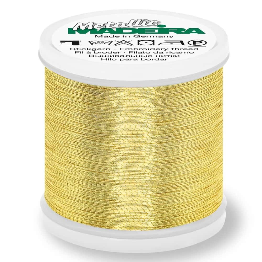 Madeira Metallic Brilliant Sewing And Embroidery Thread 200m - Gold 6 Colour